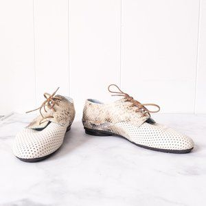 Thierry Rabotin Snake Print Loafers Shoes